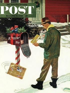 """Merry Christmas from the IRS,"" Saturday Evening Post Cover, December 17, 1960 by Ben Kimberly Prins"