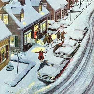 """""""Party After Snowfall"""", February 12, 1955"""
