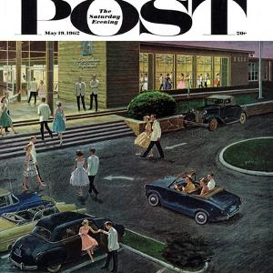 """""""Prom Dates in Parking Lot,"""" Saturday Evening Post Cover, May 19, 1962 by Ben Kimberly Prins"""
