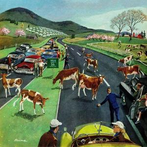 """Slow Mooving Traffic"", April 11, 1953 by Ben Kimberly Prins"