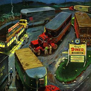 """Truck Stop Diner"", October 10, 1953 by Ben Kimberly Prins"