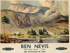 Ben Nevis, Poster Advertising British Railways, C.1955