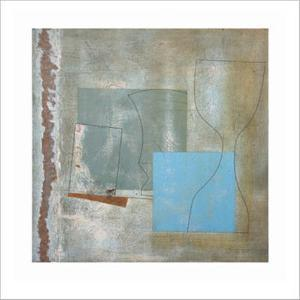 Green Goblet and Blue Square, c.1961 by Ben Nicholson