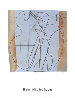 Three Spanners and Four Holes, c.1973 by Ben Nicholson