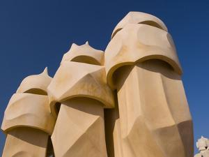 Casa Mila, UNESCO World Heritage Site, Barcelona, Catalonia, Spain, Europe by Ben Pipe