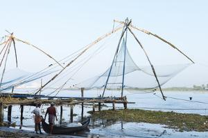 Chinese Nets at Dawn, Fort Kochi (Cochin), Kerala, India, South Asia by Ben Pipe
