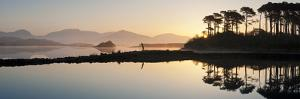 Derryclare Lough at Dawn, Connemara, County Galway, Connacht, Republic of Ireland, Europe by Ben Pipe