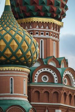 Exterior detail of St. Basil's Cathedral, Red Square, Moscow, Moscow Oblast, Russia by Ben Pipe