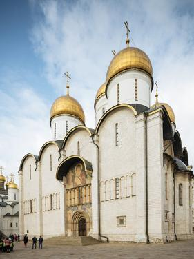Exterior of Dormition Cathedral, The Kremlin, Moscow, Moscow Oblast, Russia by Ben Pipe