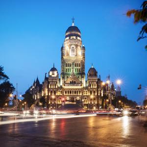 Exterior of Mumbai Municipal Corporation Building, Mumbai (Bombay), India, South Asia by Ben Pipe