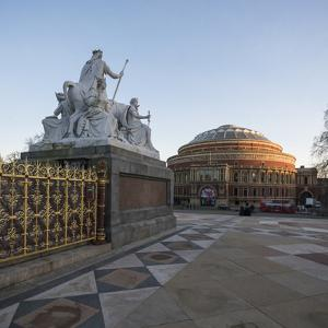 Exterior of the Royal Albert Hall from the Albert Memorial, Kensington, London, England, UK by Ben Pipe