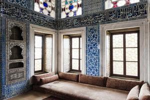 Interior of Baghdad Kiosk, Topkapi Palace, Sultanahmet, Istanbul, Turkey by Ben Pipe