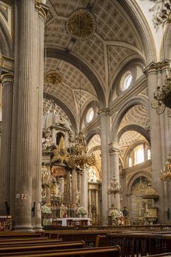 Interior of Cathedral, Puebla City, Puebla, Mexico, North America by Ben Pipe