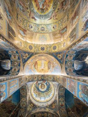Interior of Church of the Savior on Spilled Blood, St. Petersburg, Russia by Ben Pipe