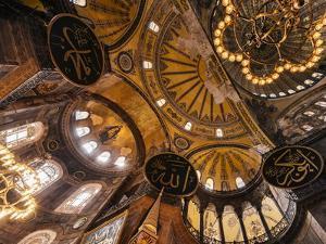 Interior of Hagia Sofia (Aya Sofya), Sultanahmet, Istanbul, Turkey by Ben Pipe