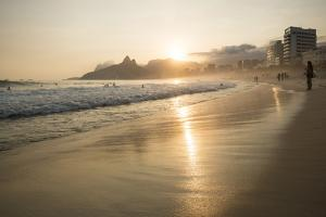 Ipanema Beach at Sunset, Rio De Janeiro, Brazil, South America by Ben Pipe