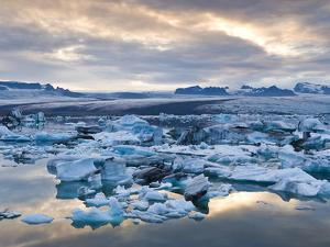 Jokulsarlon, South Iceland, Iceland, Polar Regions by Ben Pipe