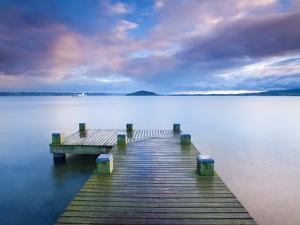 Lake Rotorua, North Island, New Zealand, Pacific by Ben Pipe