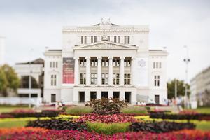 Latvian National Opera Building, Riga, Latvia, Baltic States, Europe by Ben Pipe