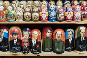 Matryoshka dolls for sale in Izmaylovsky Bazaar, Moscow, Moscow Oblast, Russia by Ben Pipe