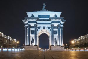 Moscow Gate of Triumph at Night, Moscow, Moscow Oblast, Russia by Ben Pipe