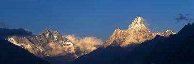 Mount Lhotse, 8501 Metres and Mount Ama Dablam, 6856 Metres,, Khumbu (Everest) Region, Nepal