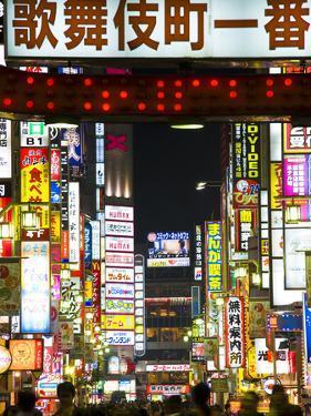 Neon Signs, Kabukicho, Shinjuku, Tokyo, Japan, Asia by Ben Pipe