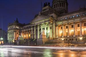 Palacio Del Congreso at Night, Buenos Aires, Argentina, South America by Ben Pipe