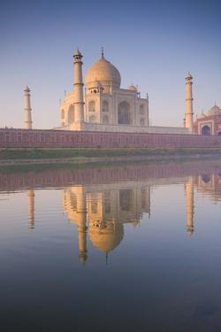 Taj Mahal with Reflection in the Yamuna River by Ben Pipe Photography