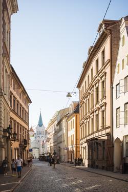 Pils Iela Street, Riga, Latvia, Baltic States, Europe by Ben Pipe