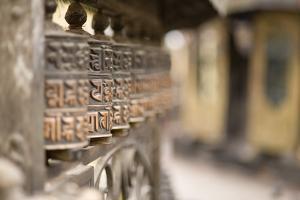 Prayer Wheels, Swayambhu (Monkey Temple), Kathmandu, Nepal, Asia by Ben Pipe