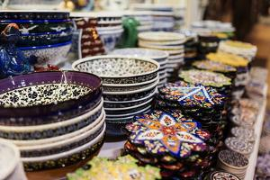 Products for Sale, Grand Bazaar (Kapali Carsi), Istanbul, Turkey by Ben Pipe
