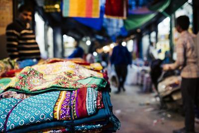 Shastri Textiles Market at Night, Amritsar, Punjab, India by Ben Pipe