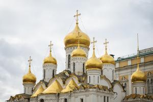 Steeples of Annunciation Cathedral, The Kremlin, Moscow, Moscow Oblast, Russia by Ben Pipe