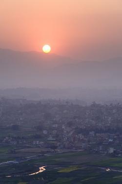 Sunset over Kathmandu, Nepal, Asia by Ben Pipe