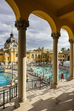 Szechenyi Thermal Baths, Budapest, Hungary, Europe by Ben Pipe