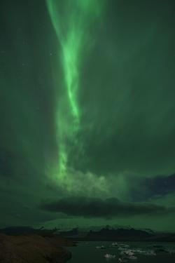 The Northern Lights, Jokulsarlon, South Iceland, Iceland, Polar Regions by Ben Pipe
