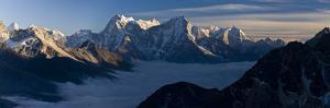 View from Gokyo Ri (5300 Metres), Dudh Kosi Valley, Solu Khumbu (Everest) Region, Nepal, Himalayas by Ben Pipe