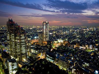 View from Tokyo Metropolitan Building, Shinjuku, Tokyo, Japan, Asia