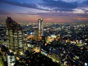 View from Tokyo Metropolitan Building, Shinjuku, Tokyo, Japan, Asia by Ben Pipe