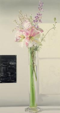 Amaryllis with Three Drawings, 1988 by Ben Schonzeit