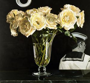 White Roses on Black, 2000 by Ben Schonzeit