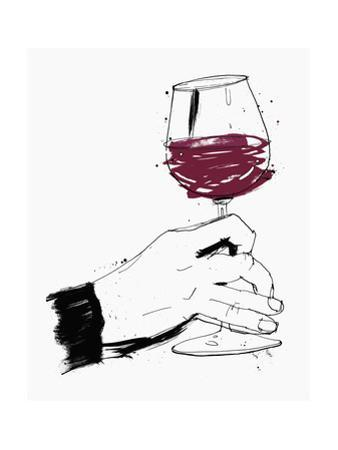 Hand Swirling Glass of Red Wine by Ben Tallon