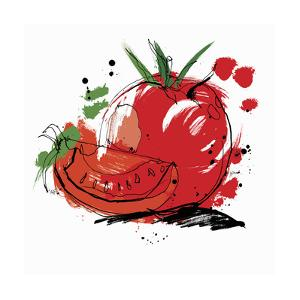 Whole and Sliced Tomato by Ben Tallon