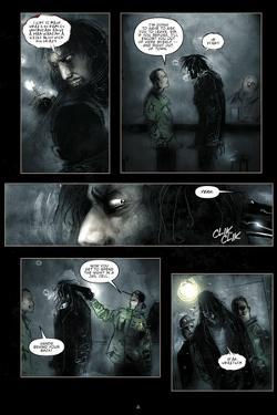 30 Days of Night - Comic Page with Panels by Ben Templesmith