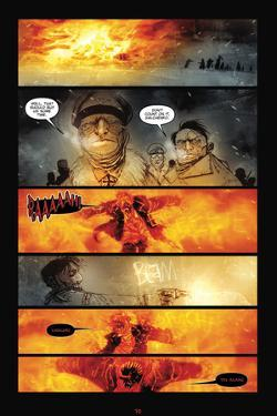 30 Days of Night: Red Snow - Comic Page with Panels by Ben Templesmith
