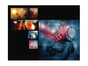 30 Days of Night: Red Snow - Page Spread with Panels by Ben Templesmith