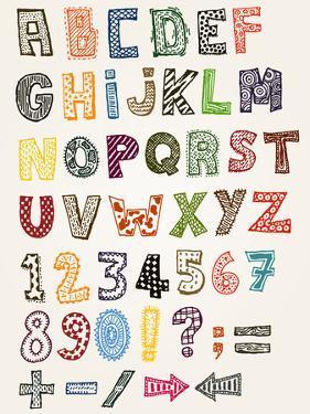 Doodle Fancy Abc Alphabet by Benchart