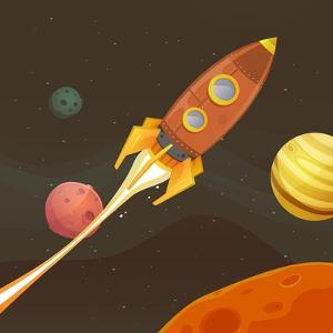 Rocket Ship Flying through Space by Benchart