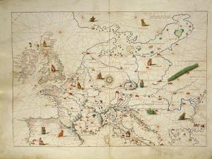 Europe, from Atlas of the World in Thirty-Three Maps, 1553 by Benedetto Antelami